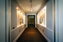 Korytarz wśrodku Walter muzeum sztuki w Mount Vernon, Baltimo Obraz Stock