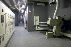 Korytarz z projektorami i maszynerią dla kin Obrazy Royalty Free