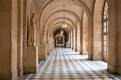 korytarza pałac Versailles Zdjęcia Royalty Free