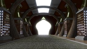 korytarza złota pałac Zdjęcie Royalty Free