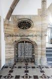 Korytarze i architektura wśrodku urzędu miasta na Marienplat Obrazy Royalty Free