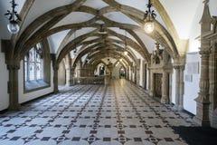 Korytarze i architektura wśrodku urzędu miasta na Marienplat Zdjęcie Royalty Free