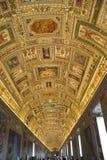 korytarzy muzea Vatican fotografia royalty free