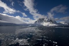 korytkowy Antarctica lemaire Obrazy Royalty Free
