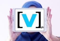 Korytkowy V logo Zdjęcia Stock