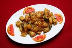 korzenna kartoflana sałatka zdjęcia stock