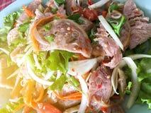 korzenna wieprzowiny sałatka Zdjęcia Stock