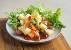 Korzennej sałatki mieszana owoc Zdjęcie Stock