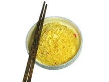 Korzenni smażący ryż Fotografia Royalty Free