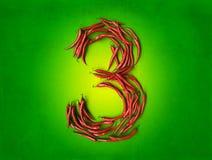 Korzenni trzy na zieleni Zdjęcia Royalty Free