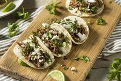 Korzenny Domowej roboty wołowiny Barbacoa Tacos obrazy stock