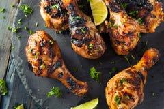 Korzenny Piec na grillu szarpnięcie kurczak zdjęcie royalty free