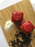 Korzenny pieprz i sól zdjęcie stock