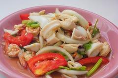korzenny sałatkowy owoce morza zdjęcia stock