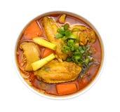 Korzenny Singapur Curry'ego Kluski Zdjęcie Stock