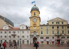 Korzo en Rijeka Foto de archivo libre de regalías