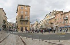 Korzo Rijeka Royaltyfria Bilder