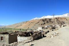 Korzok-Dorf in Ladakh Lizenzfreies Stockbild
