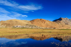 Korzok village on Tso Moriri, Ladakh Royalty Free Stock Images