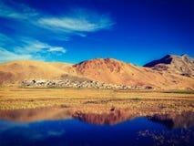 Korzok village on Tso Moriri, Ladakh Stock Photo