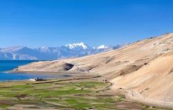 Tso Moriri lake in Ladakh, Jammu and Kashmir, India. Royalty Free Stock Image