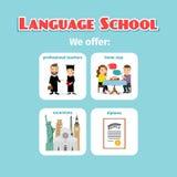 Korzyści zagranicy językowej szkoły studiowanie royalty ilustracja
