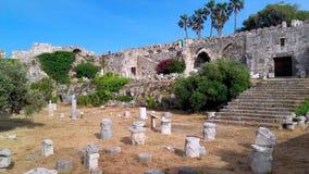 KOS海岛- Neratzia城堡 免版税库存照片