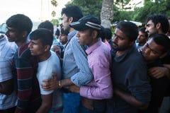 Kos海岛,希腊-欧洲难民危机 库存图片