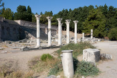 Kos, corinthian colums of Asclepion temple - Greece Royalty Free Stock Images