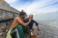 Kos island, Greece - European Refugee Crisis. Stock Images