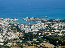 Kos town, aerial view Stock Photos
