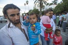 Kos wyspa, Grecja - Europejski uchodźcy kryzys Obrazy Royalty Free