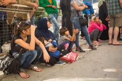 Kos wyspa, Grecja - Europejski uchodźcy kryzys Fotografia Stock