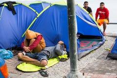 Kos wyspa, Grecja - Europejski uchodźcy kryzys Zdjęcia Stock