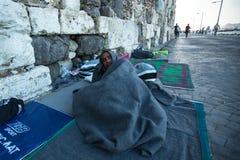Kos wyspa, Grecja - Europejski uchodźcy kryzys Obrazy Stock