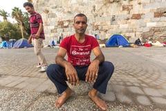 Kos wyspa, Grecja - Europejski uchodźcy kryzys Obraz Royalty Free