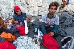 Kos wyspa, Grecja - Europejski uchodźcy kryzys Zdjęcie Stock