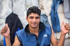 Kos wyspa, Grecja - Europejski uchodźcy kryzys Obraz Stock