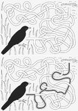 Kosa labirynt ilustracja wektor