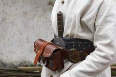 Kosackammunitiondräkt på bältet Arkivfoto