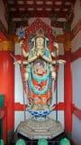 Kosanji寺庙Senju Kannon雕象在日本 库存图片