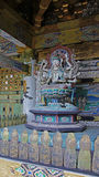 Kosanji寺庙Senju Kannon雕象在日本 免版税库存照片