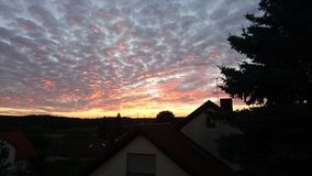 Kosbach-Sonnenuntergang Stockfotografie