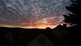 Kosbach-Sonnenuntergang Stockfotos