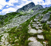 Koscielec peak in the High Tatras. Poland. Koscielec above Dolina Gasienicowa valley in Tatry mountains Royalty Free Stock Image
