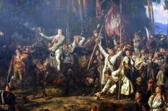 Kosciuszko bij de Slag van Raclawice royalty-vrije stock afbeelding