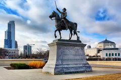 Kosciuszko est honoré Chicago par ce monument Photographie stock