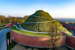 Kosciuszko Mound in Krakow, Poland, in sunrise light. Kosciuszko Mound Kopiec Kościuszki. Krakow landmark, Poland. Erected in 1823 to commemorate Tadedeusz Royalty Free Stock Photography