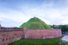 Kosciuszko Mound in Krakow, Poland. Kosciuszko Mound - memorial to historic national leader - Tadeusz Kosciuszko. Mound is situated on a natural hill and gives Royalty Free Stock Image