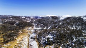 D SM Perisher Valley Rd Sky Royalty Free Stock Photos